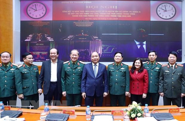 Le PM préside la conférence pour construire des zones de défense ferme dans la nouvelle situation