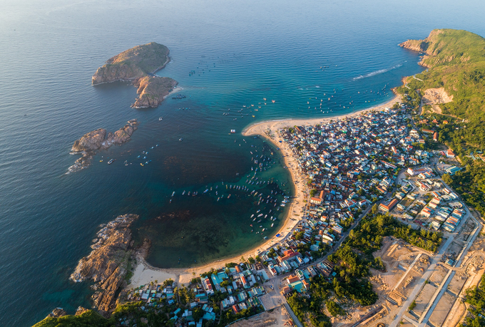La beauté de Quy Nhon vue d'en haut