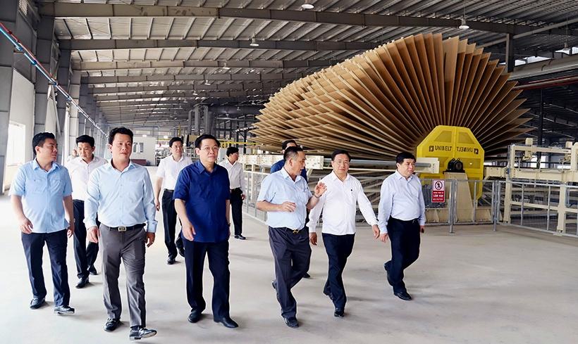 Ha Tinh: Inauguration de la plus grande usine de panneaux de fibres de bois au Centre