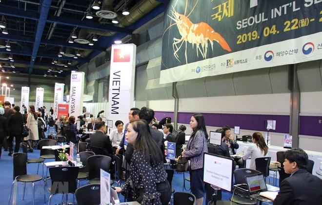 Des produits aquatiques vietnamiens présentés à un salon international à Séoul