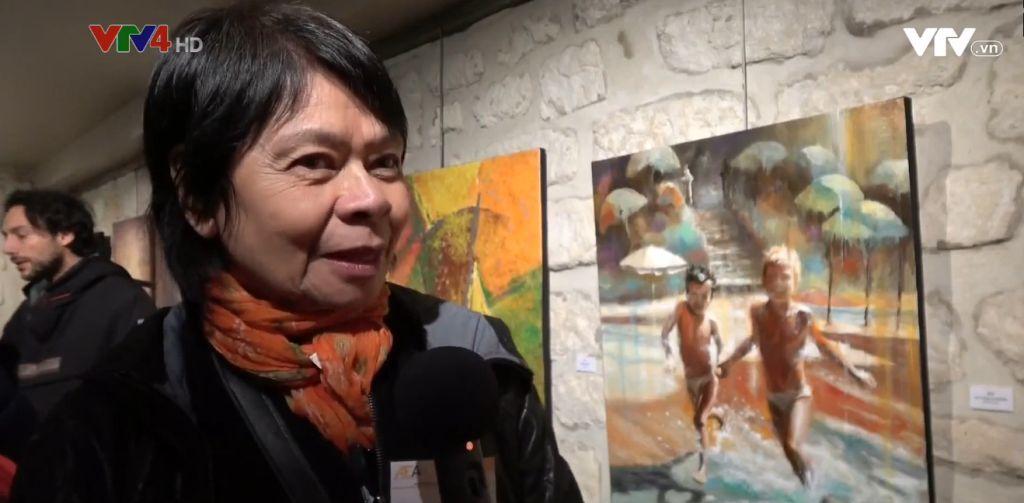 Une peintre franco-vietnamienne participe à une exposition internationale à Paris