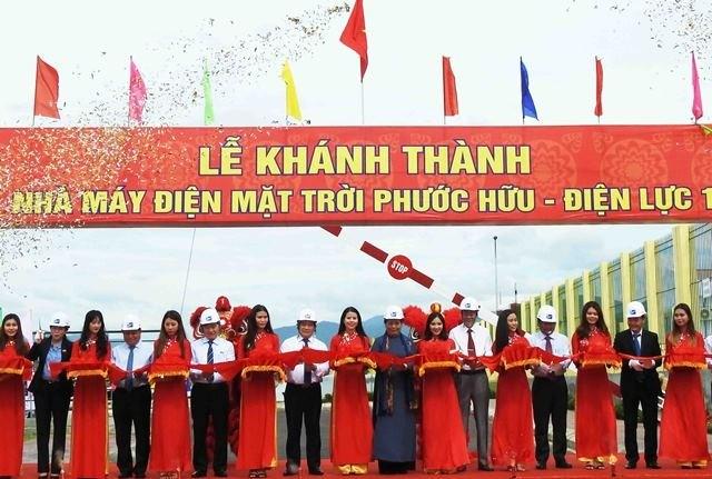 Ninh Thuan: Inauguration de la centrale électrique solaire Phuoc Huu-Dien luc 1