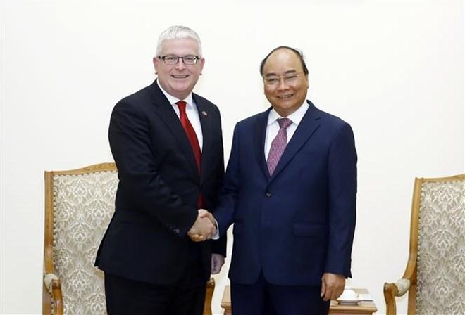 Le Premier ministre reçoit l'ambassadeur d'Australie