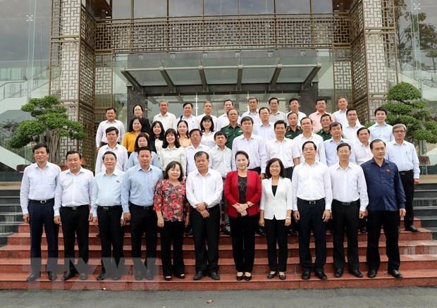 La présidente de l'AN Nguyên Thi Kim Ngân travaille avec les autorités de Tây Ninh