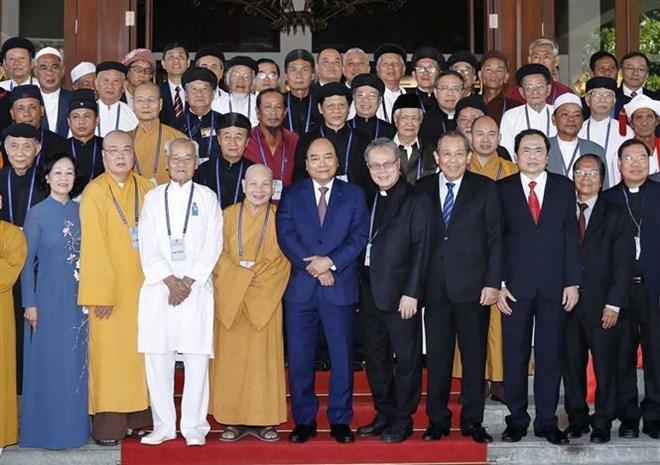 Le PM rencontre des dignitaires et subordonnés religieux exemplaires