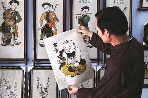 Un dossier sur les estampes de Dông Hô pour l'UNESCO en gestation