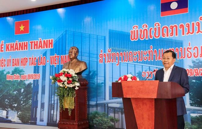 Inauguration du nouveau siège du Comité de coopération Laos-Vietnam