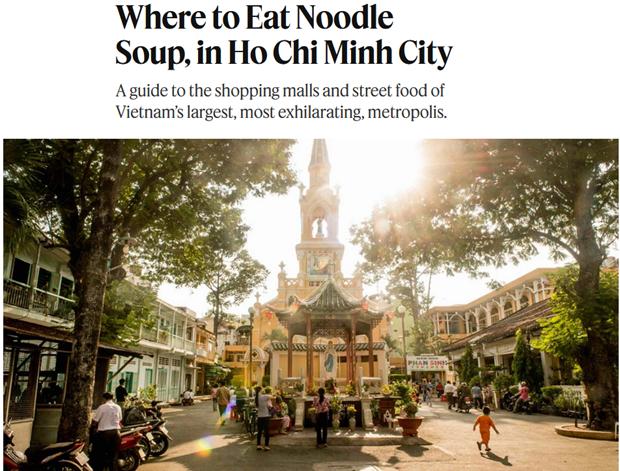 New York Times présente des traits typiques de Ho Chi Minh-Ville