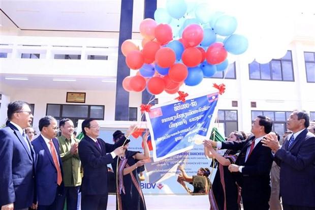 Laos: Inauguration d'une école construite avec l'aide de l'État vietnamien