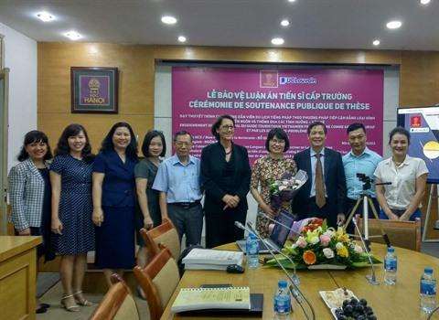 Université de Hanoï: succès du projet du collège doctoral en langue française