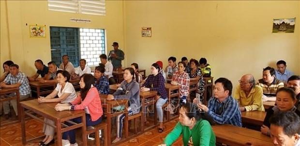 Cours d'aide pour les Cambodgiens d