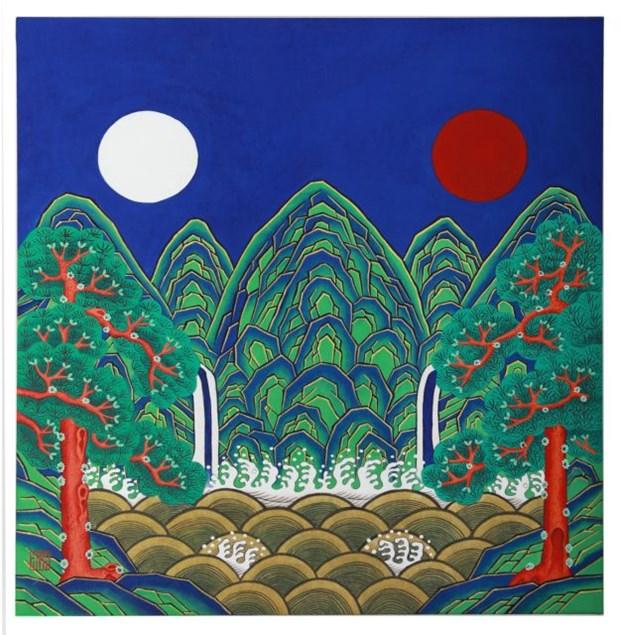 Des peintures folkloriques sud-coréennes exposées à Hanoi