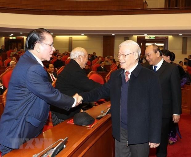 Nouvel an lunaire: rencontre d'anciens hauts dirigeants du Parti et de l