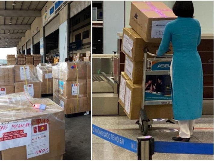 Solidarité Vietnam-France: dons de plus de 260.000 masques à la France