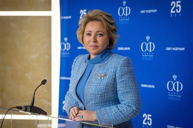 Coronavirus: la présidente du Conseil de la Fédération de Russie remercie le Vietnam