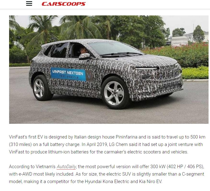 Un site automobile américain impressionné par l
