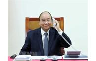 Les PM Nguyên Xuân Phuc et Edouard Philippe s'entretiennent par téléphone