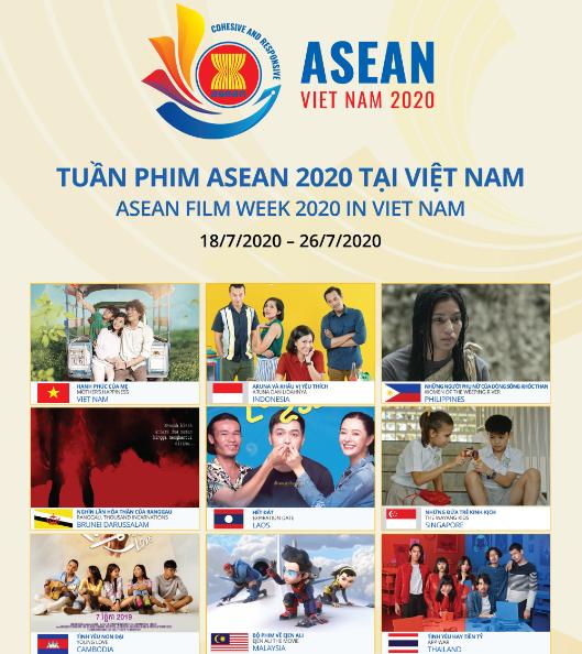 La semaine du film de l'ASEAN 2020 organisée dans trois grandes villes du Vietnam