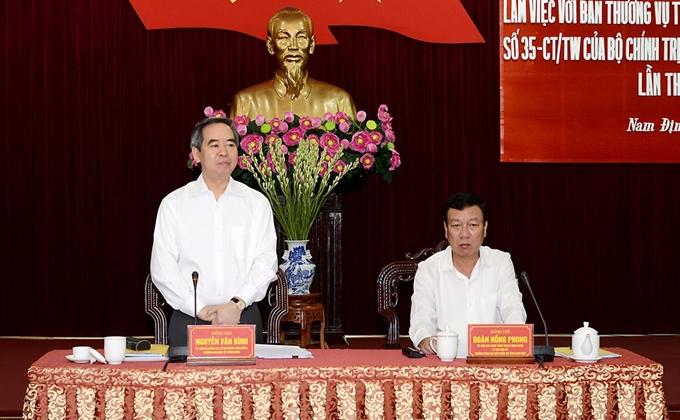 Nam Dinh doit mener à bien la Directive n°35 du Bureau politique