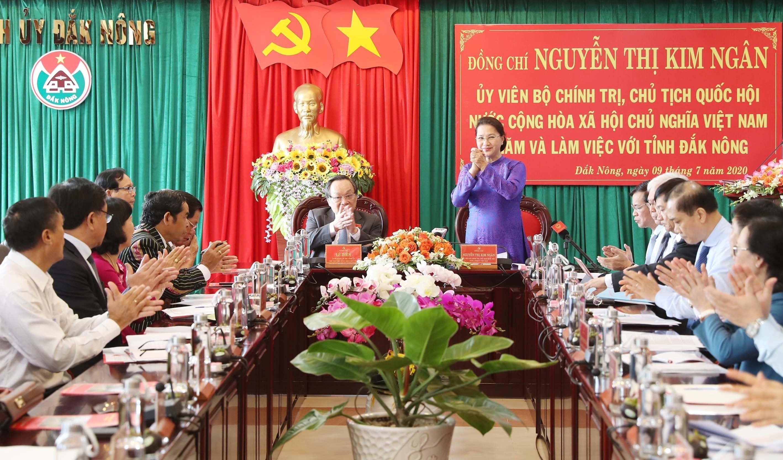 La présidente de l'AN exhorte Dak Nong à prêter attention aux politiques religieuses