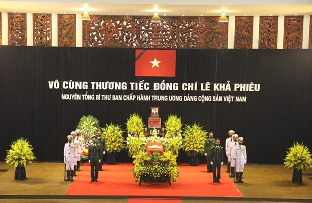 Cérémonie en hommage de l'ancien secrétaire général du Parti Le Kha Phieu