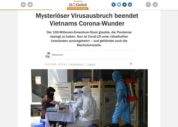 Médias allemands: le Vietnam est déterminé à se battre contre une seconde vague du coronavirus