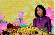 La vice-présidente au Congrès d'émulation patriotique de Yen Bai