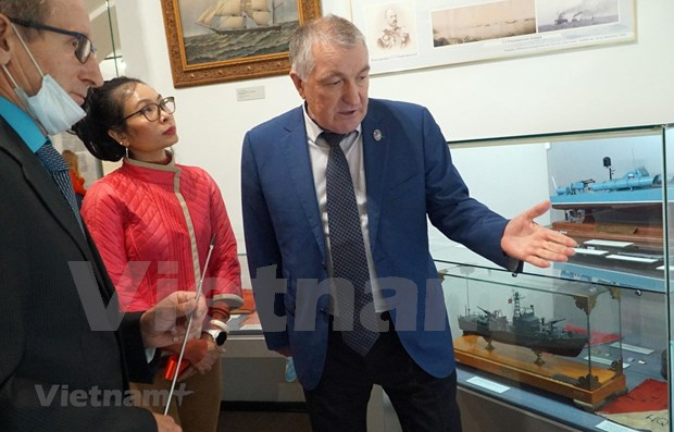 Ouverture de l'exposition «Cam Ranh: coopération militaire Vietnam-Russie» à Saint-Pétersbourg