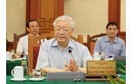 Le Bureau politique travaille avec la permanence du Comité du Parti de Ho Chi Minh-Ville