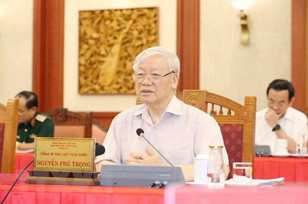 Le leader Nguyên Phu Trong montre la voie à la Police populaire