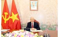 Vietnam-Chine: conversation téléphonique entre Nguyen Phu Trong et Xi Jinping