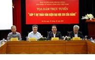 Echange en ligne «Donner des avis sur les projets de documents du 13e Congrès national du Parti»