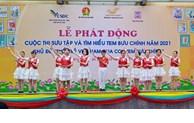 La jeunesse du Vietnam avec les timbres-poste