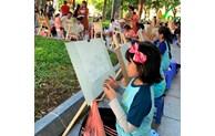 Concours de dessin sur Hanoi-Ville pour la paix