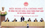 Le PM souligne l'importance du droit et du renforcement des institutions