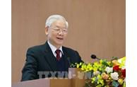 Le leader Nguyen Phu Trong exhorte à promouvoir le Renouveau et la mise en œuvre des tâches fixées