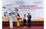 Une collégienne vietnamienne gagne le 3e prix du 49e concours de l