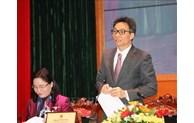 Le vice-PM Vu Duc Dam apprécie les réalisations culturelles, sportives et touristiques