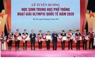 Des étudiants exceptionnels aux Olympiades internationales mis à l'honneur