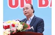 Le président Nguyen Xuan Phuc à une cérémonie de plantation d'arbres à Hanoï