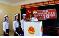 Élections législatives: le vote anticipé dans le district insulaire de Truong Sa