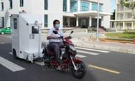 L'Ecole polytechnique de Da Nang invente une cabine transportant des patients du COVID-19