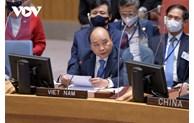 Climat: Le président Nguyen Xuan Phuc participe à une réunion du Conseil de sécurité de l'ONU