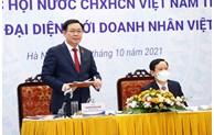 Le président de l'AN Vuong Dinh Hue rencontre des hommes d