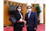 Le Premier ministre Pham Minh Chinh reçoit Mme l