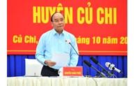 Le président Nguyên Xuân Phuc rencontre l'électorat de Cu Chi