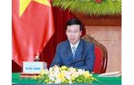 Parti: Entretien en ligne entre des responsables vietnamien et laotien