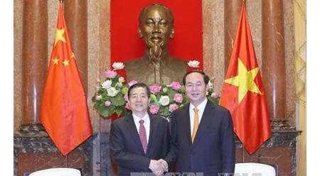 国家主席陈大光会见中国公安部部长郭声琨