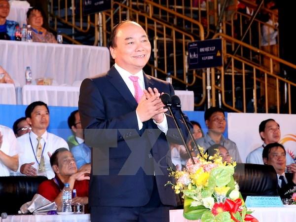 阮春福总理宣布第5届亚洲沙滩运动会开幕