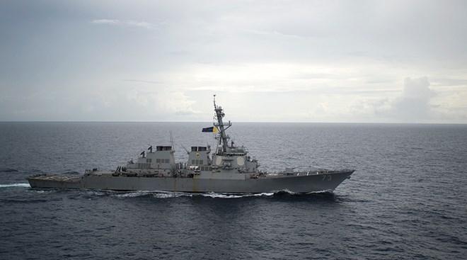 """越南外交部就美国""""德凯特""""号驱逐舰在越南黄沙群岛附近海域活动发声"""